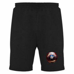 Мужские шорты Потрескавшийся щит Капитана Америка - PrintSalon