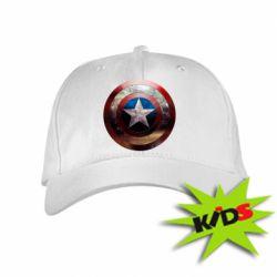 Детская кепка Потрескавшийся щит Капитана Америка - PrintSalon