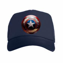 Кепка-тракер Потрескавшийся щит Капитана Америка - PrintSalon