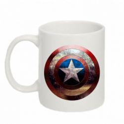 Кружка 320ml Потрескавшийся щит Капитана Америка - PrintSalon