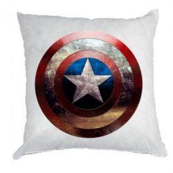 Подушка Потрескавшийся щит Капитана Америка - PrintSalon