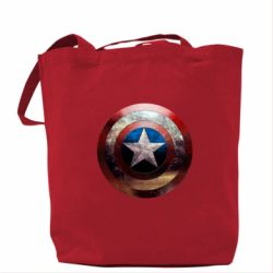 Сумка Потрескавшийся щит Капитана Америка - PrintSalon