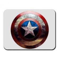 Коврик для мыши Потрескавшийся щит Капитана Америка - PrintSalon
