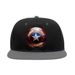 Снепбек Потрескавшийся щит Капитана Америка - PrintSalon