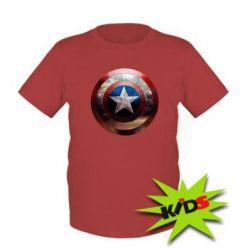 Детская футболка Потрескавшийся щит Капитана Америка - PrintSalon
