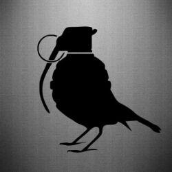 Наклейка Птичка с гранатой
