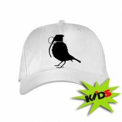 Детская кепка Птичка с гранатой