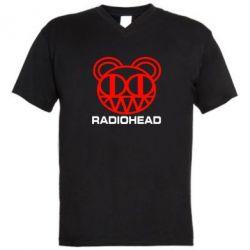 Мужская футболка  с V-образным вырезом Radiohead