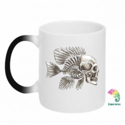 Кружка-хамелеон Рыба-череп
