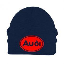 Шапка на флисе Audi лого