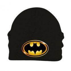 Шапка на флисе Batman logo Gold - PrintSalon