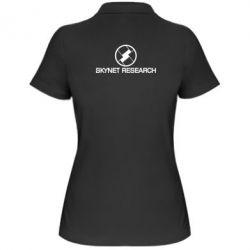 Женская футболка поло Skynet Research