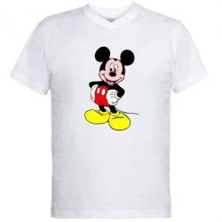 Мужская футболка  с V-образным вырезом Сool Mickey Mouse - PrintSalon