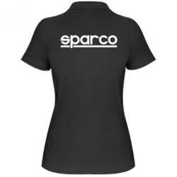 Женская футболка поло Sparco - PrintSalon