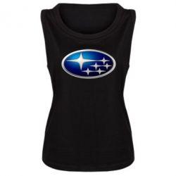 Женская майка Subaru 3D Logo