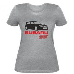 Женская футболка Subaru STI