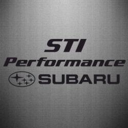 Наклейка Subaru STI