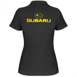 Женская футболка поло Subaru - PrintSalon