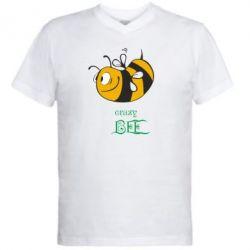 Чоловічі футболки з V-подібним вирізом Шалена бджілка - PrintSalon 5339ddef1f3b6