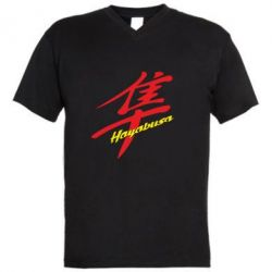 Мужская футболка  с V-образным вырезом Suzuki Hayabusa