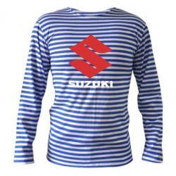 Тельняшка с длинным рукавом Suzuki - PrintSalon