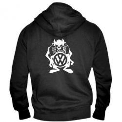 Мужская толстовка на молнии Тасманский дьявол Volkswagen