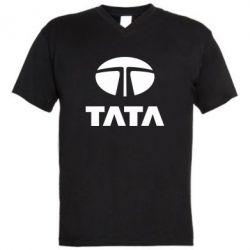 Мужская футболка  с V-образным вырезом TaTa