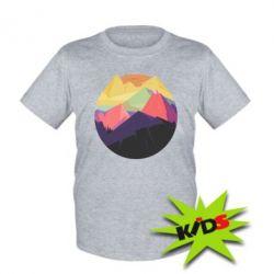 Детская футболка The mountains Art