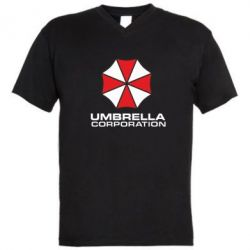 Мужская футболка  с V-образным вырезом Umbrella - PrintSalon