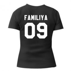Женская футболка Ваша фамилия и номер - PrintSalon