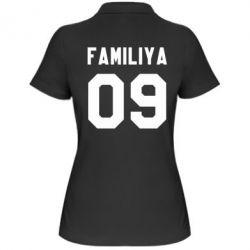 Женская футболка поло Ваша фамилия и номер - PrintSalon