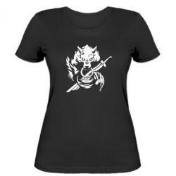 Женская футболка Волк с мечем
