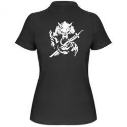 Женская футболка поло Волк с мечем