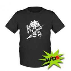 Детская футболка Волк с мечем
