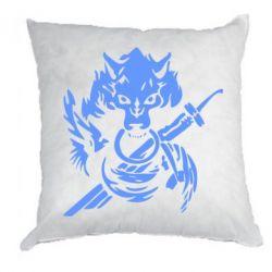 Подушка Волк с мечем