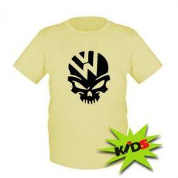 Детская футболка Volkswagen Skull