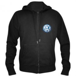 Мужская толстовка на молнии Volkswagen Small Logo
