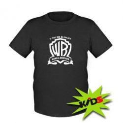 Детская футболка Warn A brother - PrintSalon