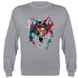 Реглан Watercolor Colorful Wolf - PrintSalon