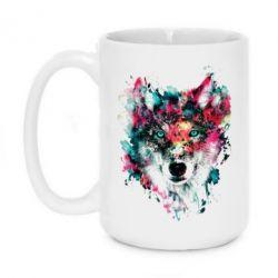 Кружка 420ml Watercolor Colorful Wolf - PrintSalon