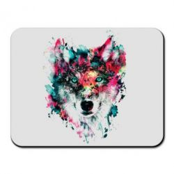Коврик для мыши Watercolor Colorful Wolf - PrintSalon
