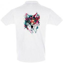 Футболка Поло Watercolor Colorful Wolf - PrintSalon