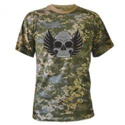 Камуфляжная футболка Winged Skull
