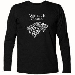 Футболка с длинным рукавом Winter is coming (Игра престолов) - PrintSalon