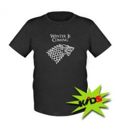 Детская футболка Winter is coming (Игра престолов) - PrintSalon