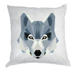 Подушка Wolf Poly Art