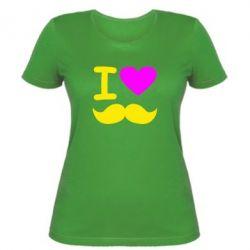 Жіноча футболка Я люблю вуса