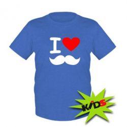 Дитяча футболка Я люблю вуса