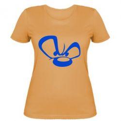 Женская футболка Злой мишка