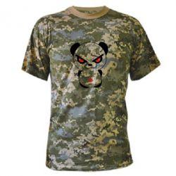 Камуфляжная футболка Злой мишка